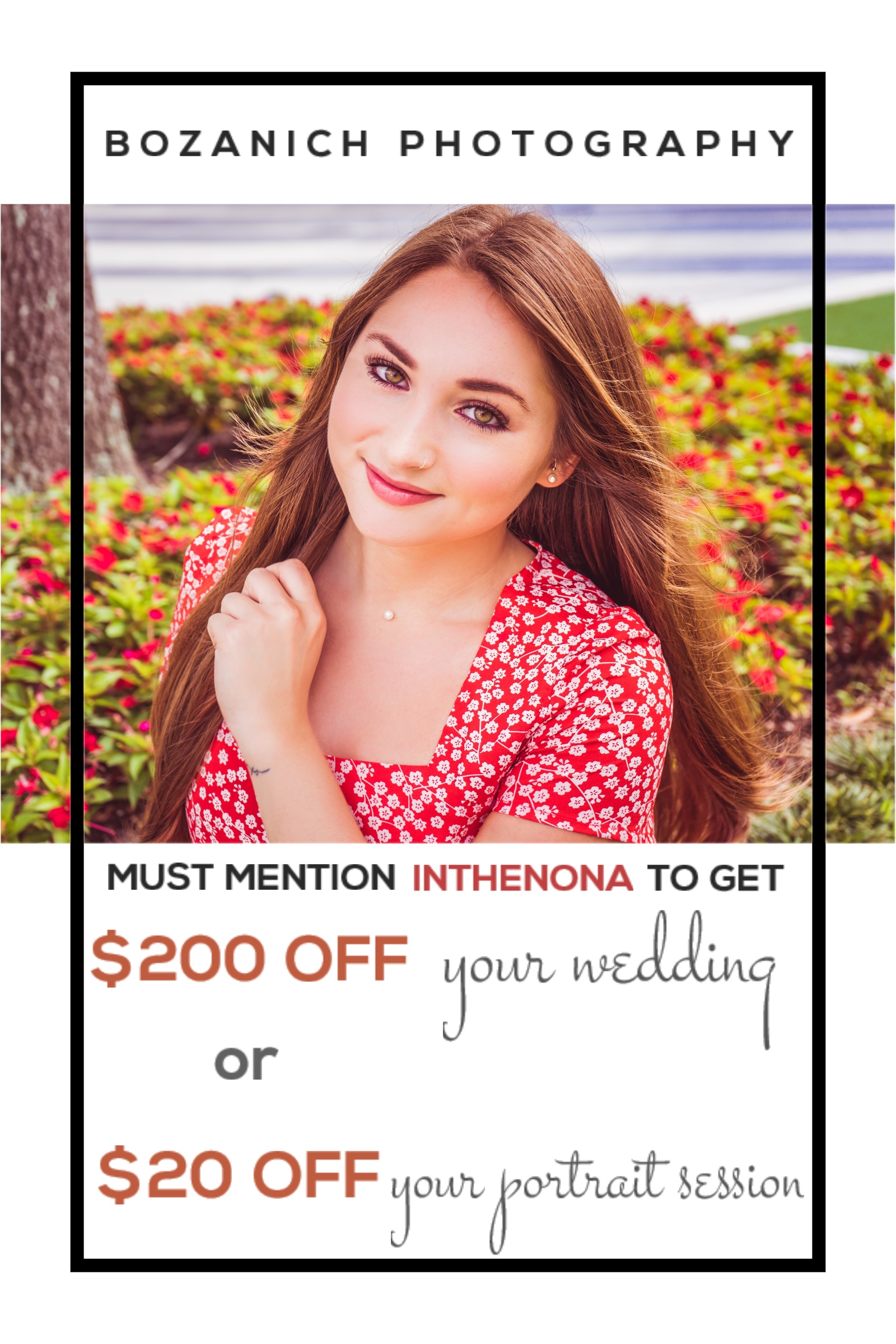 Bozanich Photography: $20 – $200 OFF Your Photography Booking!